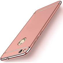 Funda Huawei P8 Lite 2017 / Honor 8 lite / Nova Lite, Yoowei 3 en 1 Ultra Delgado PC Back Cover Bumper Carcasa Anti-Scratch Duro Cubierta Protectora Case para Huawei P8 Lite 2017 Teléfono, Oro rosa