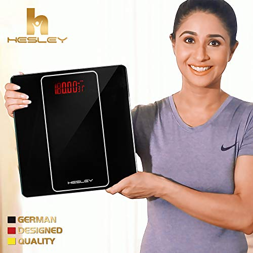 Weighing Scale/Weighing Machine by HESLEY with Step-On Technology, 180 kgs, SAL-001 Premium Black series