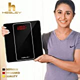 #8: HESLEY Black Weighing Scale with Step-on Technology, 180 kgs
