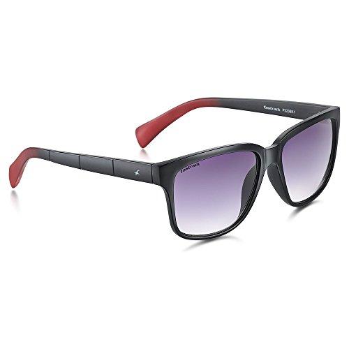 Fastrack UV protected Wayfarer Men's Sunglasses (P323BK1|60|Purple and Black) image