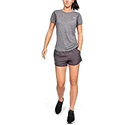 Under Armour Fly by Short Pantalón Corto, Mujer, Gris (Ash Taupe/Jet Gray/Reflective 057), M