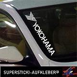 SUPERSTICKI®Winschutzscheibe Aufkleber ca.55cm Yokohama Sponsor Autoaufkleber Tuning Decal A665 aus Hochleistungsfolie