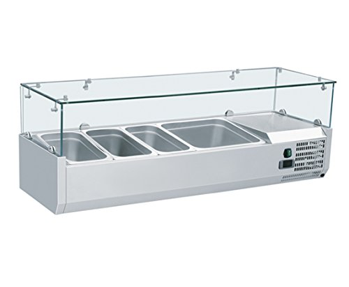 Zorro - Aufsatzkühlvitrine Kühl Aufsatzvitrine Kühltisch Aufsatz für Pizzakühltisch Saladette 1200380 mm