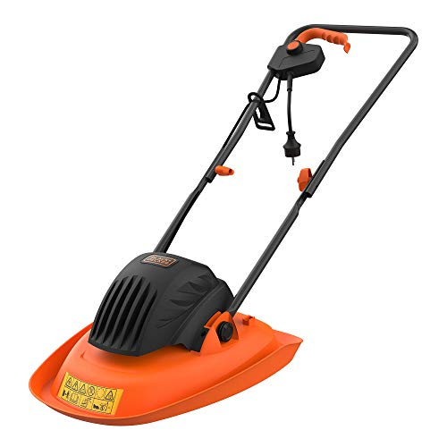 Black + Decker BEMWH551-QS Rasenmäher auf Luftkissen, 30 cm-1200 W-Garten 250 m² - ideal für Terrain in Schrägen oder Beschädigungen (5,6 kg)