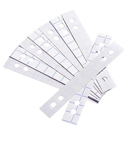 Durable 807819 - Tiras autoadhesivas para reforzar perforaciones de 60 y 80 mm (50 unidades), transparente