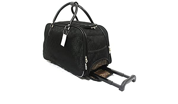 e511538b2 GG Print Luggage Wheeled Travel Holdall Cabin Trolley Case Handbag:  Amazon.co.uk: Luggage
