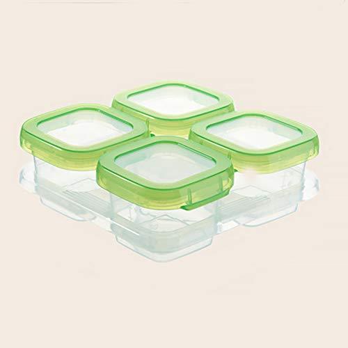 Container Seal Baby Block Tragbarer Safe-Dispenser-Kühlung Wiederverwendbare Snacks Stapelbare Lebensmittellagerung(4 Gitter)