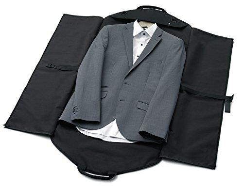 alpamayo bolsa portatrajes, bolsa de ropa para el transporte de trajes y camisas al viaje, negro