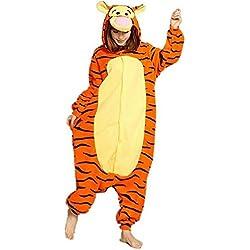WOWcos® Pijama para adultos unisex, diseño de Pikachu multicolor Tigre XL