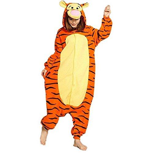 WOWcos Damen Strampelanzug Gr. Small, tiger (Tiger Strampelanzug Kostüm Für Erwachsene)