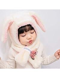 zyyaxky Cappello per Bambini Autunno E Inverno Femminile Paraorecchie Bambino  Bambino Cappello Cappello Sciarpa Infantile Bib 7d9b98079585