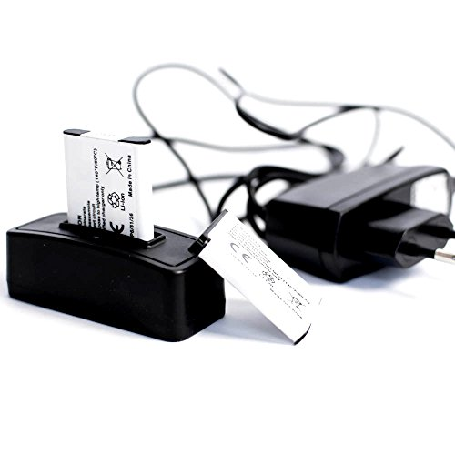 roxs Set di ricarica per AgfaPhoto Optima 103 - Optima Battery Box