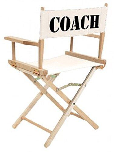 Regiestuhl aus Holz und Canvas mit Aufdruck Coach 72112-1