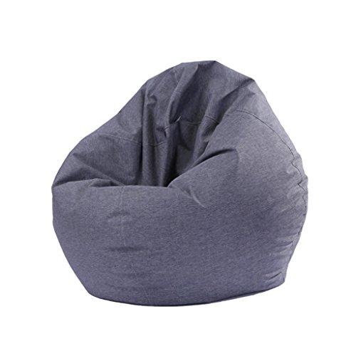 PETSOLA Moderne Gedruckte Leinen Sitzsack Abdeckung Sofa Schutzhülle - Grau