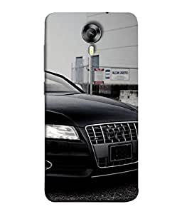 PrintVisa Designer Back Case Cover for Micromax Canvas Xpress 2 E313 (smooth black car high classy)