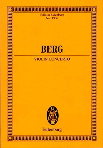 Violinkonzert für Violine, Orchester - Komponist Alban Berg - Studienpartitur