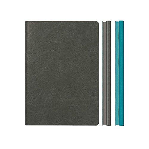 Daycraft A5 Notizbuch im typischen Duo - grau/Blau Duo Notebook