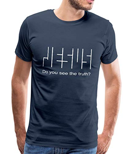 Spreadshirt Jesus Wahrheit Glaube Christlich Do You See The Truth Männer Premium T-Shirt, XL, Navy