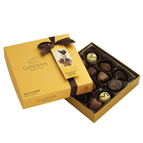 Godiva Gold Rigid Schachtel, 14 Stück WHS, 165 g (Belgische Godiva-pralinen)