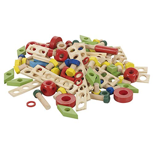 URBN Toys 120 Pcs Wooden Construction Set Meccano Style