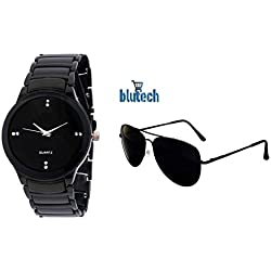 BLUTECH black watch and sunglass aviatoat FREE