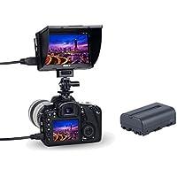 """VILTROX DC-50 5"""" Clip-on Caméra LCD Moniteur Portable Vue Vidéo 800 * 480 pixels HDMI pour DSLR Caméra DV avec Batterie"""