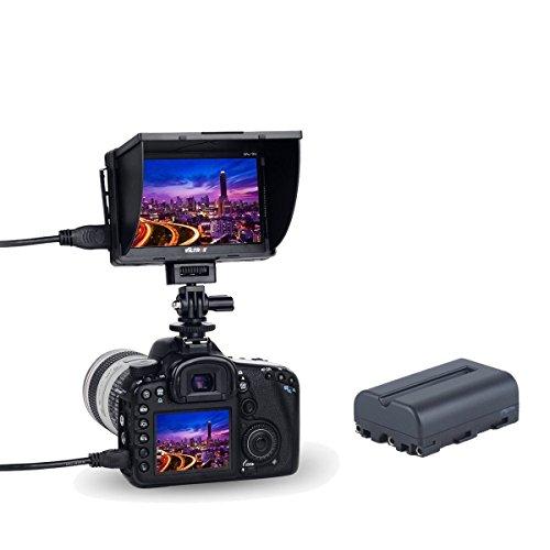 VILTROX® DC-50 5 zoll Kamera Video Field Monitor Display Mit HDMI AV Eingang und Ausgang HDMI für Canon Nikon Pentax Sony - Video-kamera Mit Av-eingang