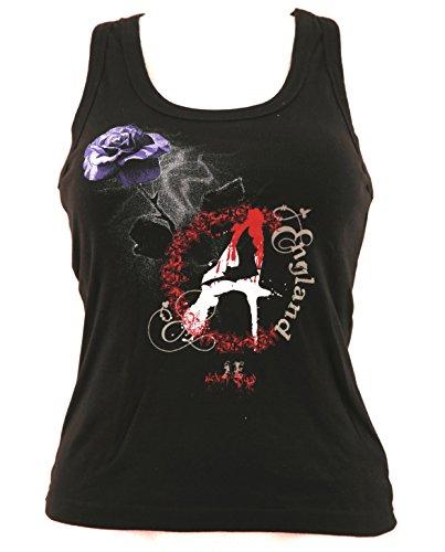 Girlie Shirt Gothic Tank-Top Größe XS schwarz Baumwolle Siebdruck Alchemy England -