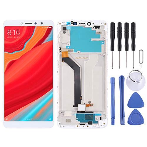 GUODONG Accesorios de reparación Pantalla LCD y ensamblaje Completo del digitalizador con Marco for Xiaomi Redmi S2 (Negro) Piezas de Repuesto (Color : Blanco)