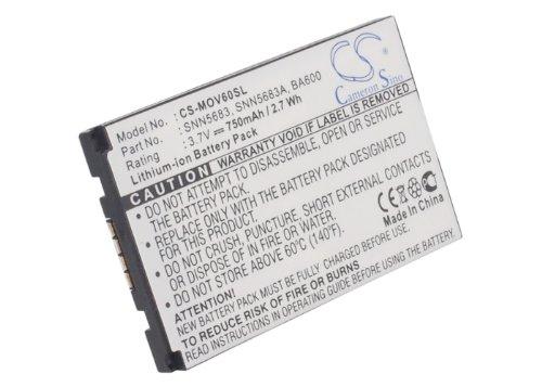 CS-MOV60SL Akku 750mAh Kompatibel mit [Motorola] 270C, A630, A760, A768i, E550, E680, i205, I30, I50, i530, i730, I733, I85, i860, I88, I90, I95, Nextel i205, Nextel i215, Nextel i275, Nextel i305, N Nextel Motorola I355