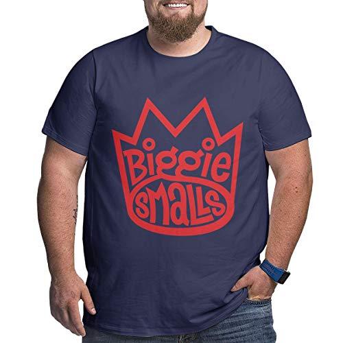 Eivan Herren T-Shirt Biggie Smalls Large Size Rundhalsausschnitt Baumwolle Kurzarm Shirt Gr. XXXXX-Large, Navy