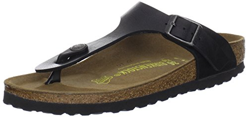 Birkenstock Gizeh Salmon Patent 43 EU, Tongs garçon Graceful Licorice