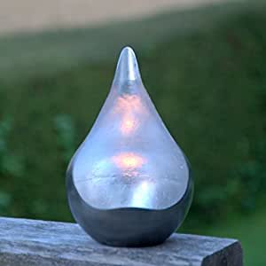 Silver Leaf Teardrop tealight holder. Simply stunning - Large]