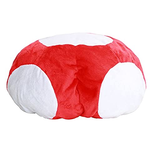 Enfant Red Mushroom Hat - Mario Luigi Hat Cosplay Costumes Bros Halloween