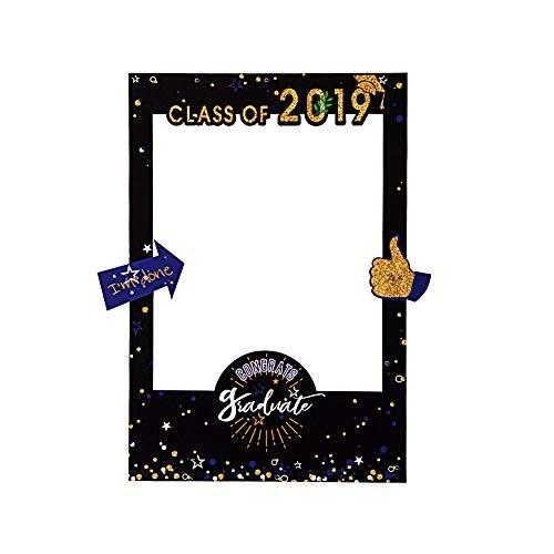SUNBEAUTY Abschuluss Fotorequisiten Foto Rahmen 2019 Abschlussfeier Requisiten Graduation Party Deko Graduierung Fotokabine Photo Booth Props