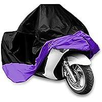 Copertura impermeabile a prova di polvere Sun indoor outdoor da moto per Harley Davison, Honda, Suzuki, Yamaha, Kawazaki etc, borsa pacchetto include, Black/Purple, XXL - Rv Serbatoio