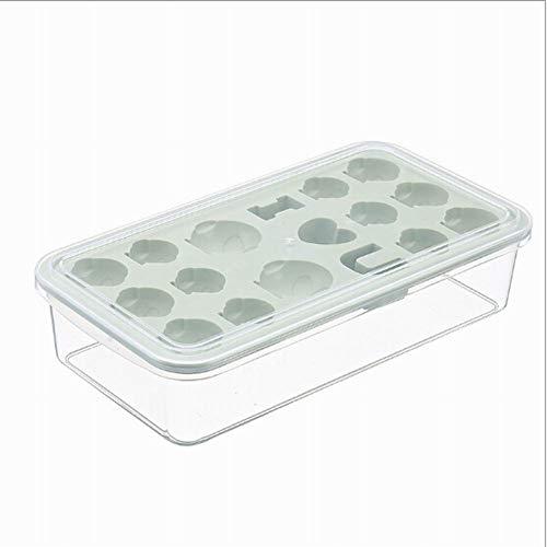 Semine Eiswürfelbehälter mit Kunststoffdeckel Flexibel 17 Eisbecher Perfekt für Babynahrung Cocktail Whiskey