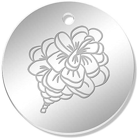 11 x 34mm 'Pinecone' Mirror Pendants / Charms (PN00040577)