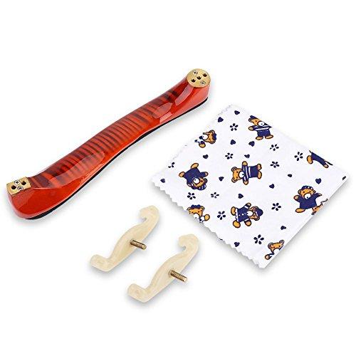 Poggia a spalla di violino, superficie di legno d'acero spugna per violino Accessori per violino 3/4 4/4