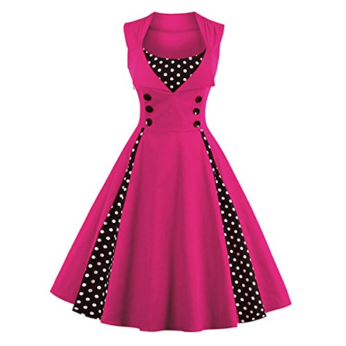 Dissa M1357 femme Rockabilly Robe de Soiré cocktail Robe de Bal Retro Rose