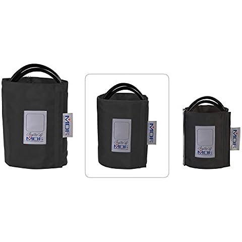 MDF® Grande per adulti - Doppio tubo - Anello Dbracciale per la rilevazione della pressione senza latex - Nero (MDF2080460D-11)