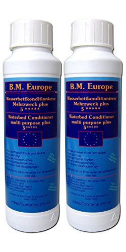 B.M. Europe 2x 250 ml Conditioner Konditionierer Wasserbett Softside Hardside -