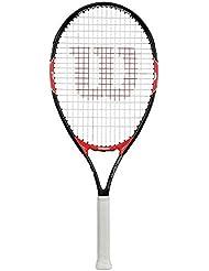 Wilson Roger Federer Tns Rkt, Racchetta da Tennis Unisex Bambini, Rosso/Nero, 26