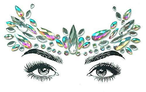 Temporärer Rhinestone Face Edelstone, Rhinestone Edelstein Tattoo, Kristall Schmuck, Party Schmuck Aufkleber, Nachtclub Masquerade Tattoo,C