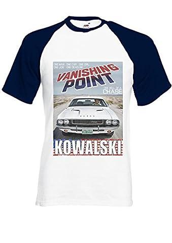 Dodge Challenger RT 440 Magnum Kowalski Vanishing Navy/White Men Women Unisex Shirt Sleeve Baseball T Shirt-XL