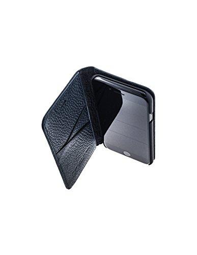 QIOTTI >              Apple iPhone 7 PLUS (5,5&quot;)              < incl. PANZERGLAS H9 HD+ Geschenbox Booklet Wallet Case Hülle Premium Tasche aus echtem Kalbsleder mit Kartenfächer. Edel verpackt incl. Stoffbeutel. INGLES GRAIN  BLAU