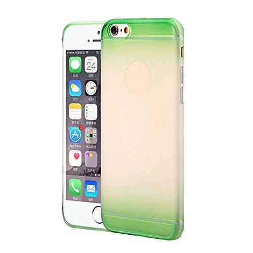 Cuitan TPU Weiche Schutzhülle Hülle für Apple iPhone 6 plus / 6s plus (5,5 Zoll), Frosted Gradient Design Rück Abdeckung Handytasche Rückseite Tasche Handyhülle Case Cover für iPhone 6 plus / 6s plus  Grün