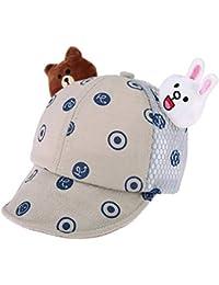 amazingdeal Summer Baby Dots Baseball Caps Cotton Cute Ears Girls Boys  Infant Sun Hats d227f7ea44e6