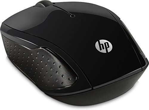 HP 200 Mouse Wireless con Profilo Sagomato, Nero