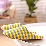 MMMMM Indoor cotton slippers warm slippers warm muted senior navy blue stripes applies